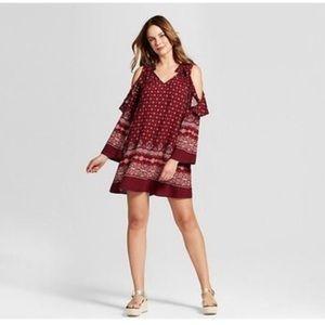 BOGO🎉 Knox Rose Dress Cold Shoulder Boho Paisley